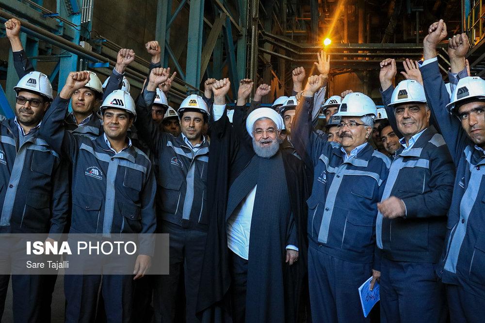 حضور رئیس جمهور در شرکت گل گهر و آغاز عملیات اجرایی طرح های توسعه ای در استان کرمان