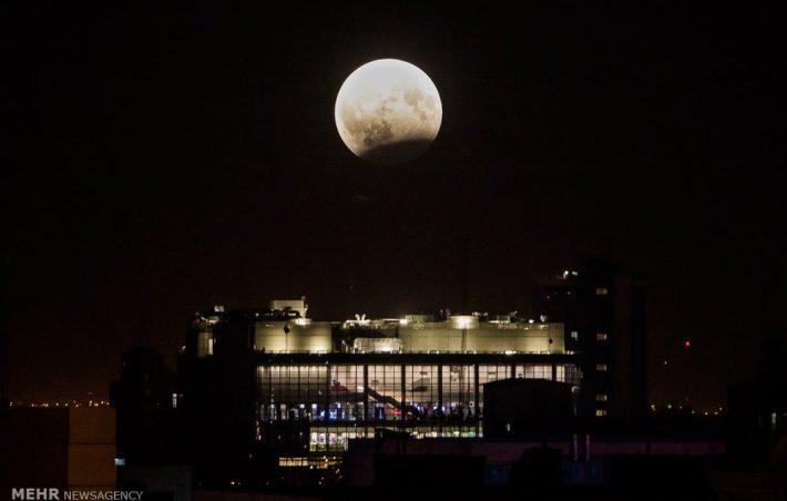 ماه گرفتگی دیشب ایران