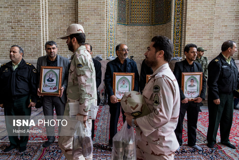 مراسم ترحیم شهدای نا آرامیهای خیابان پاسداران